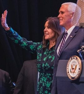 Vice President Mike Pence with his wife Karen