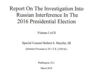 Mueller Report front page