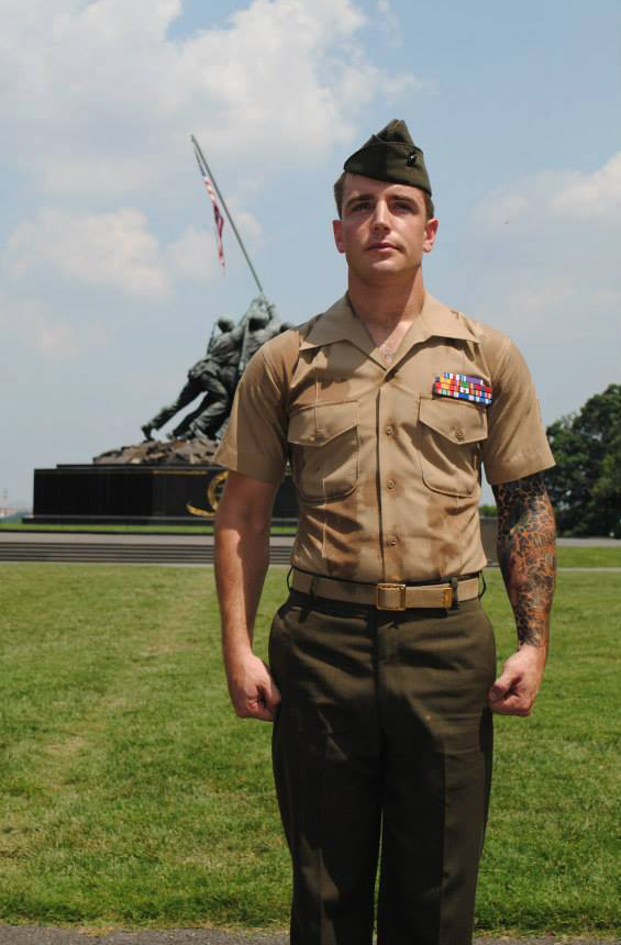 """""""Will they begin chiseling the crosses and stars of David off gravestones in Arlington?"""" asks Jake Hill, pictured during his service as a Marine. (Photo courtesy of Jake Hill)"""