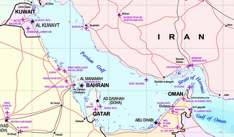 Iran Holds Crew Of Two US Navy Boats The Stream - The crew us map