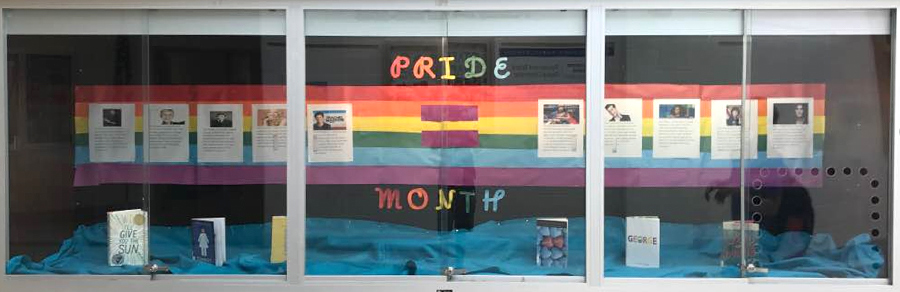 Rosa Parks Middle School Full Pride Month Display Case - 900