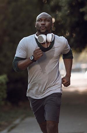 Running Sweating Man 300
