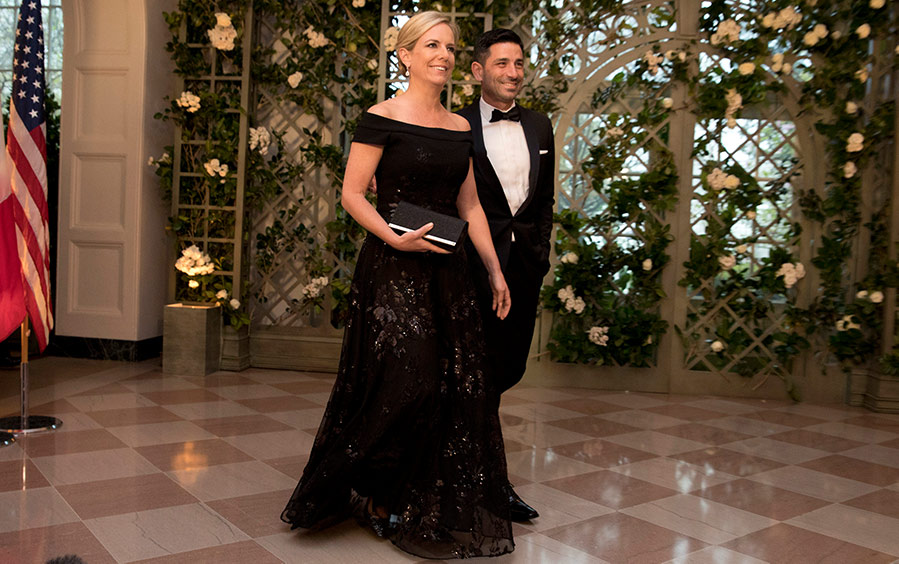 Secretary of Homeland Security Kirstjen Nielsen and Chad Wolf arrive at the White House.