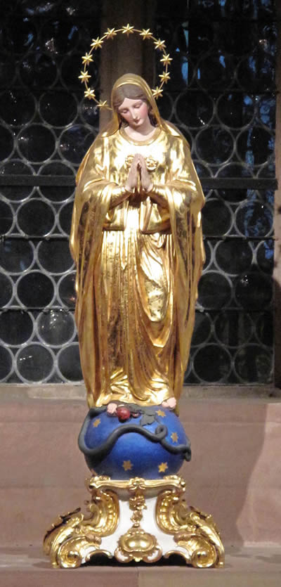 Virgin Mary in Strasbourg Cathedral