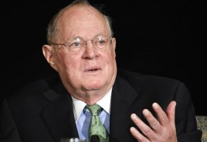 FILE - In this July 15, 2015 file photo, Supreme Court Justice Anthony Kennedy speaks in San Diego. As one justice settles into his new job at the Supreme Court, is another about to leave? Eighty-year-old Kennedy is so far refusing to comment on speculation that he may soon retire after 29 years on the court.</body></html>