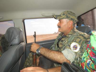 Syriac soldiers of many ages head to the fight against ISIS in Syria.