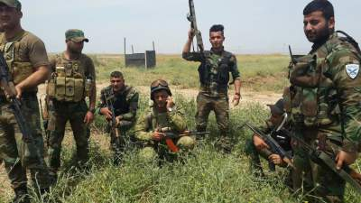 Nineveh Plain Forces together with Kurdish allies going after ISIS.