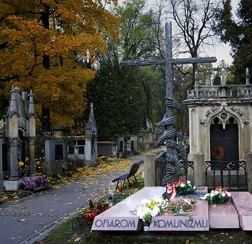 The Victims of Communism Monument, Rakowice Cemetery, Krakow, Poland