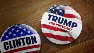 Trump v Clinton Campaign Buttons - 900