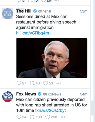Two immigration tweets