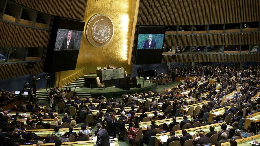 the latest from un general assembly france 39 s marcon defends paris accord the stream. Black Bedroom Furniture Sets. Home Design Ideas