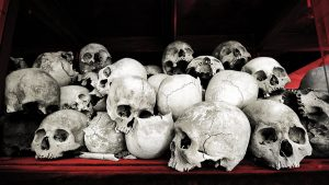 Victims of Communism Skulls Red Background - 900