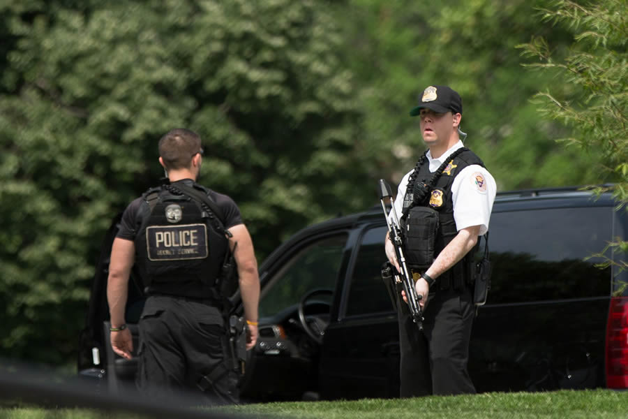 Armed Person Shot By Secret Service Officer On Street