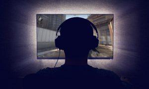 Young Man, Computer Monitor, Video Games, MMORGP, video games young men