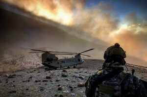 Afghanistan Helicopter on Mountain
