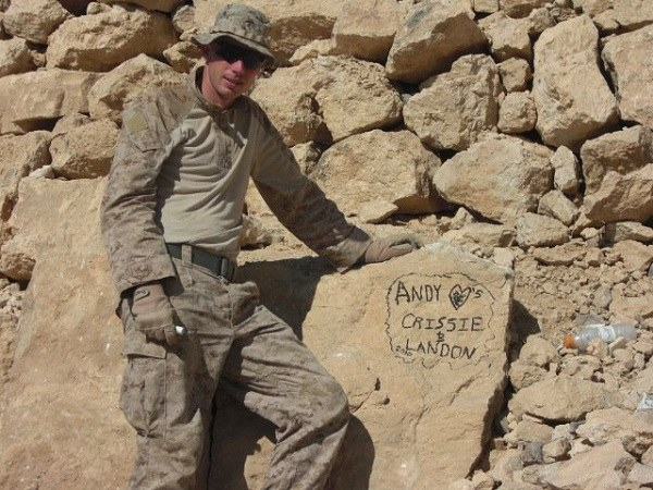 U.S. Marine Lance Cpl. Andrew Carpenter sends a loving message to his wife and unborn son shortly before being killed in action in Afghanistan in 2011.