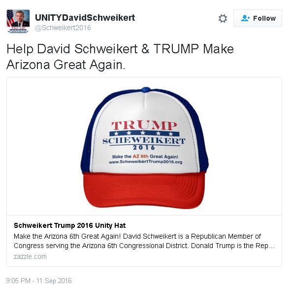 fake Schweikert Twitter