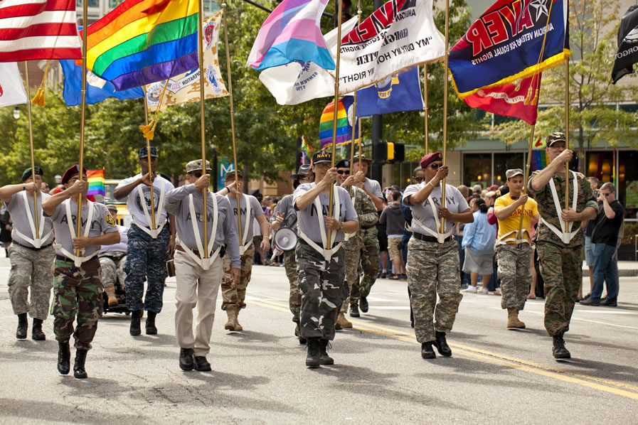 Gay Military Couples Celebrate Access To Veterans Benefits After SCOTUS  Ruling