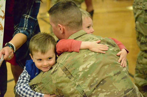Soldier Returns from War