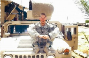 U.S. Army Staff Sgt. Michael Ollis on a combat deployment.