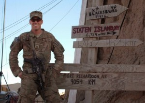 U.S. Army Staff Sgt. Michael Ollis serving overseas.