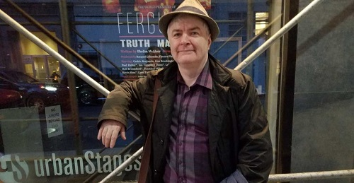 Phelim McAleer, pictured in front of 30th Street Theater. (Photo: The Daily Signal)